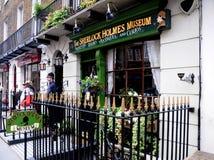 Het Museum van Holmes van Sherlock - het schild van het Aanplakbord Stock Foto's