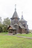 Het museum van houten architectuur in suzdal, Russische federatie stock foto's