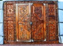 Het Museum van houten architectuur in het Taltsy-dorp in het gebied van Irkoetsk Rusland, Oost-Siberië Royalty-vrije Stock Fotografie