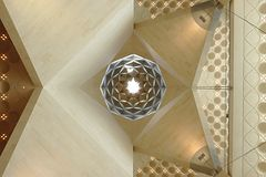 Het Museum van Islamitische Kunsten, Doha Qatar Details van het binnenlandse plafond Stock Foto's