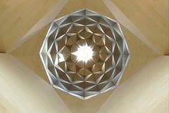 Het Museum van Islamitische Kunsten, Doha Qatar Details van het binnenlandse plafond Stock Afbeelding