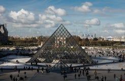 Het Museum van het Louvre in Parijs, Frankrijk Stock Foto's