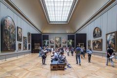 Het Museum van het Louvre in Parijs, Frankrijk royalty-vrije stock afbeelding
