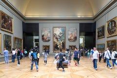 Het Museum van het Louvre in Parijs, Frankrijk stock afbeelding