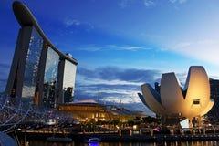 Het Museum van Marina Bay Sands And ArtScience Royalty-vrije Stock Afbeeldingen