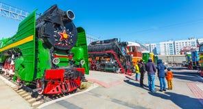 Het Museum van Novosibirsk van spoorweguitrusting N A Akulinin novosibirsk royalty-vrije stock afbeelding