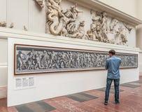 Het Museum van Pergamon in Berlijn Stock Afbeelding
