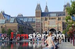 Het museum van Rijksmuseum Amsterdam Royalty-vrije Stock Foto
