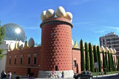 Het museum van Salvador Dali in Figueras, Spanje Royalty-vrije Stock Afbeeldingen