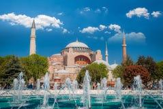 Het Museum van Sophia van Hagia, Istanboel, Turkije stock foto's