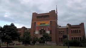 Het Museum van Wetenschap en Technologie stock videobeelden