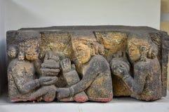 Het Museum van Yogyakartaindonesië sono-Budoyo Van de tolken de centrale Java van hulpjuru Gending 8-8-10ste eeuw stock foto