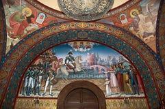 Het muurschilderij van de kerk Stock Afbeeldingen