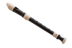 het muzikale instrument is de blokfluit Stock Foto's