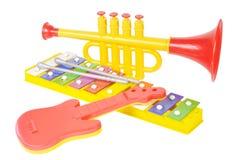 Het muzikale speelgoed van het kind Stock Foto