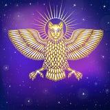 Het mythische dier, Anzud met een lichaam van een vogel en het hoofd van een leeuw royalty-vrije illustratie