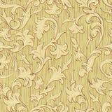Het naadloze abstracte hout sneed bloemenornament Stock Fotografie