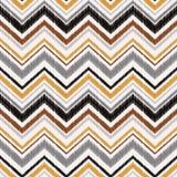 Het naadloze abstracte patroon van de zigzaggolf Stock Foto