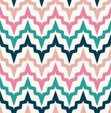 Het naadloze abstracte patroon van de zigzaggolf Stock Afbeelding