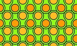 Het naadloze abstracte patroon van golvencirkels stock illustratie