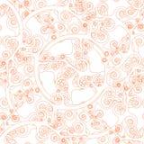 Het naadloze Abstracte Patroon van het Behang Stock Afbeelding