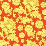 Het naadloze Antieke Patroon van het Behang Royalty-vrije Stock Afbeelding
