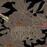 Het naadloze behang van de flora Royalty-vrije Stock Foto's