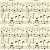 Het naadloze behang van de muziek Stock Fotografie