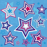 Het naadloze behang van de ster Royalty-vrije Stock Foto