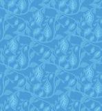 Het naadloze BladPatroon van het Behang royalty-vrije illustratie
