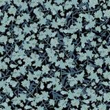 Het naadloze blauw van patroonbloemen op donkere achtergrond Royalty-vrije Stock Foto's