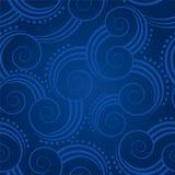 Het naadloze blauw wervelt achtergrond Stock Foto
