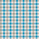 Het naadloze blauwe en taupe textielpatroon van de gingang uitstekende stof De achtergrond van de gingangcontrole vector illustratie