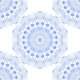 Het naadloze blauwe kant van het textuurpatroon royalty-vrije stock fotografie