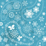 Het Naadloze blauwe patroon van Kerstmis Royalty-vrije Stock Fotografie