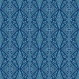 Het naadloze blauwe patroon van Paisley vector illustratie