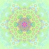 Het naadloze bloemen groenachtig blauwe roze van de ornamentmunt Stock Illustratie