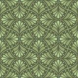 Het naadloze Bloemenpatroon van Arabesque Art Deco Style Background Vector Abstracte Bloemtextuur vector illustratie