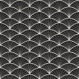 Het naadloze Bloemenpatroon van Arabesque Art Deco Style Background Vector Abstracte Bloemtextuur stock illustratie