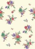 Het naadloze bloemenpatroon van het bloemontwerp royalty-vrije illustratie