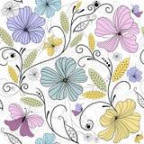Het naadloze bloemenpatroon van de pastelkleur Stock Foto