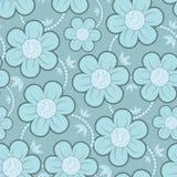 Het naadloze BloemenPatroon van het Behang Royalty-vrije Stock Foto