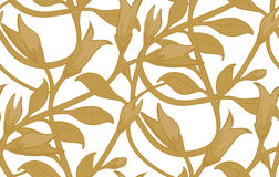 Het naadloze BloemenPatroon van het Behang royalty-vrije illustratie