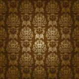 Het naadloze bloemenpatroon van het damast Royalty-vrije Stock Fotografie