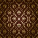Het naadloze bloemenpatroon van het damast Stock Afbeelding