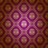 Het naadloze bloemenpatroon van het damast Royalty-vrije Stock Foto's