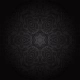 Het naadloze bloemenpatroon van het damast Koninklijk behang Bloemen op een zwarte achtergrond Royalty-vrije Stock Afbeelding