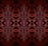 Het naadloze bruine rode wit van het diamantpatroon Stock Afbeeldingen