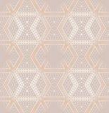Het naadloze diamantpatroon balkt beige roze Royalty-vrije Stock Fotografie