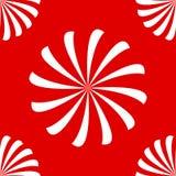 Naadloze spiralen op rood Royalty-vrije Stock Foto